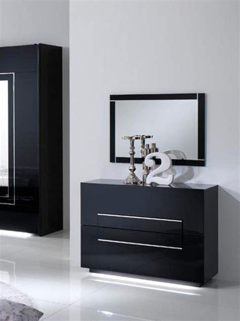 meubles pour chambre a coucher commode 2 tiroirs city laque noir chambre à coucher