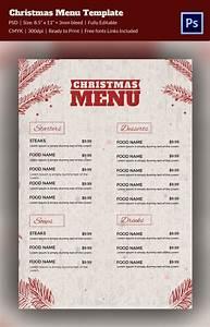 35  Christmas Menu Template