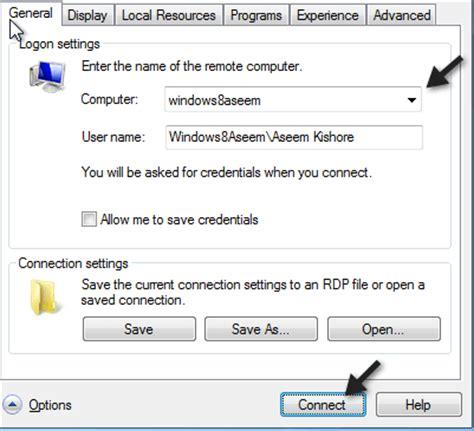 bureau à distance windows 8 comment se connecter au bureau à distance dans windows 8