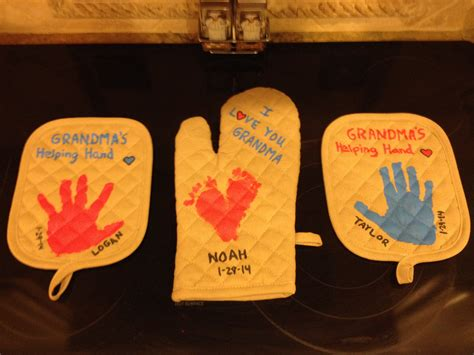 the birthday gifts i helped my kids make for their grandma