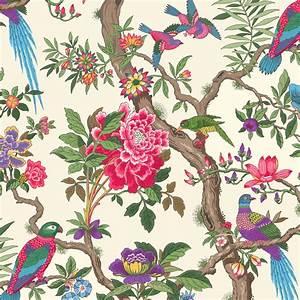 papier peint anglais decoration home 2016 With déco chambre bébé pas cher avec robe tissu fleuri