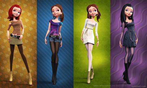 3d cartoon girl character 31