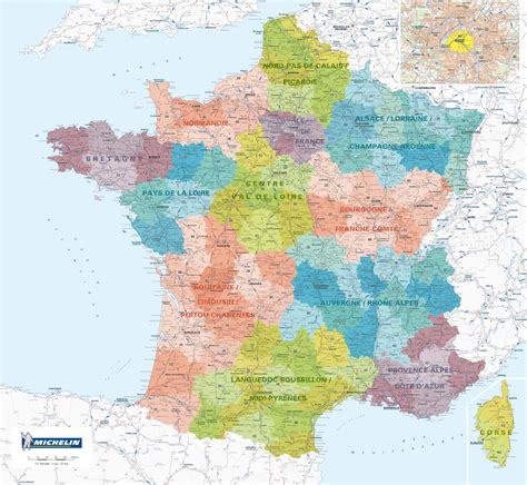 Carte De Avec Régions Et Départements à Imprimer by Carte De D 195 169 Partement
