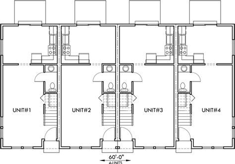 townhouse plans narrow lot 4 plex plans townhome plans 15 ft wide house plans