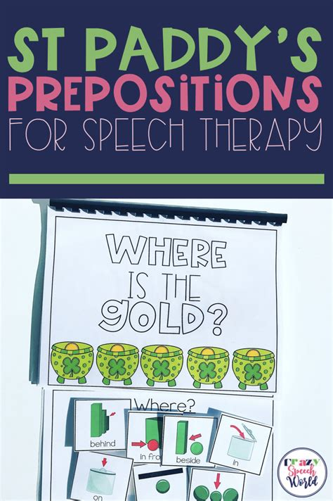 st patricks day preposition activities  images