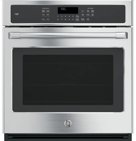 ge cafe series  built  single convection wall oven ckshss  appliances