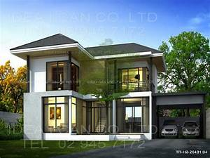 modern 2 story house plans modern contemporary house With double story modern house plans