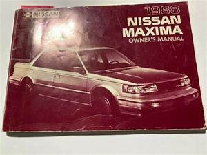 Vintage Original 1988 Nissan Maxima Owners Manual Book