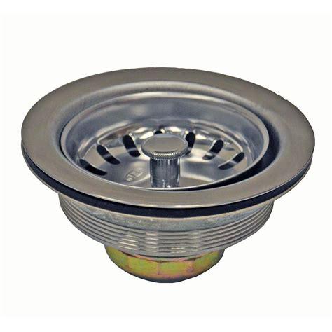 danco 3 1 2 in basket strainer in stainless steel 89305