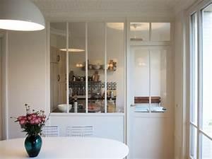 salle a manger amenager une cuisine une verriere pour With salle À manger bois pour petite cuisine Équipée