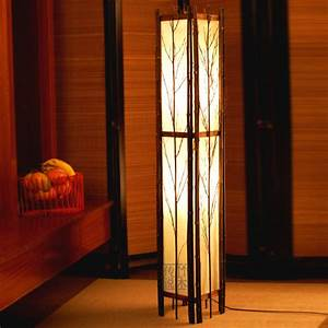 Asian style floor lamps lighting and ceiling fans for Oriental wood floor lamp