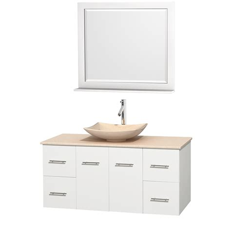 wyndham collection wcvw00948swhivgs5m36 centra 48 inch