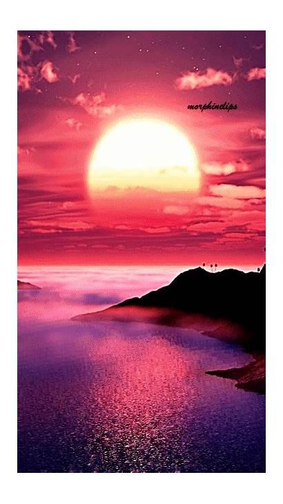 Animated Amazing Nature Sunset Gifs Beach Scenes