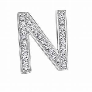 Hand Crafted Fine Jewellery Sydney Diamond letter 'N'
