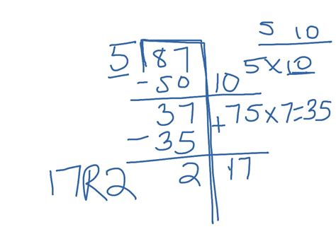 ShowMe - 2 digit by 1 digit division with remainders