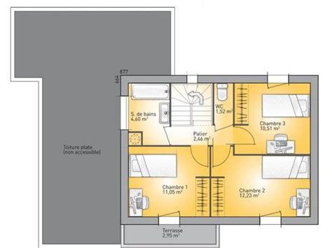 plan maison a etage 3 chambres plans de maison 1er étage du modèle eco concept maison