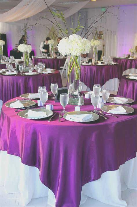 elegant purple and black wedding centerpieces creative