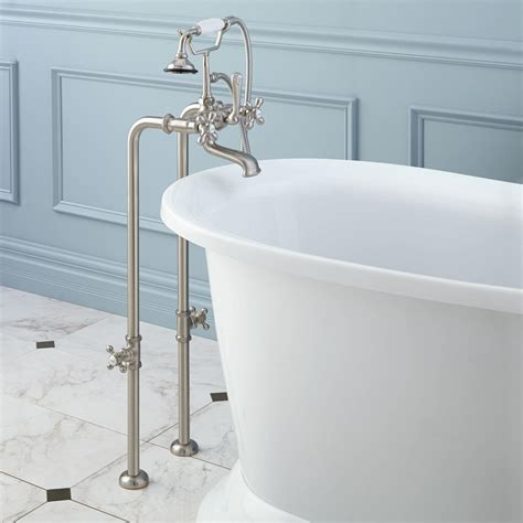 freestanding tub faucet floor mount freestanding tub fillers signature hardware