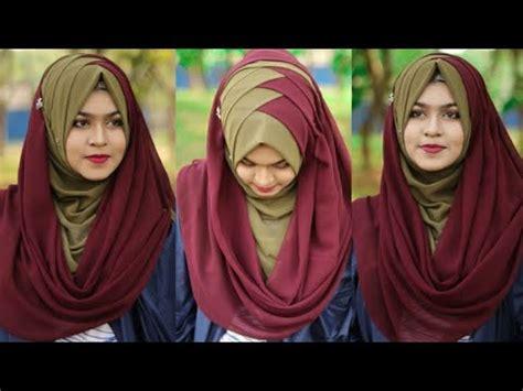 criss cross hijab style  chiffonjorjet hijabfull