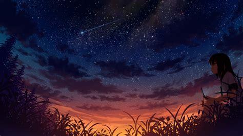 Starry Sky Anime Wallpaper - starry sky wallpaper background wallpaper