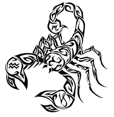 Cool Tribal Scorpion Tattoo Design