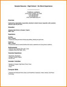How To Make A College Resume For High School Students by Exle Resume For High School Resume Exles For College Students Recentresumes Objectives