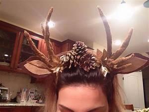 Fuchs Kostüm Selber Machen : my headband and antlers for my halloween costume made by me hair clothes everything in ~ Frokenaadalensverden.com Haus und Dekorationen