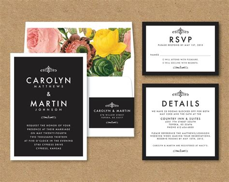 Modern Elegant Wedding Invitation Sample Wedding