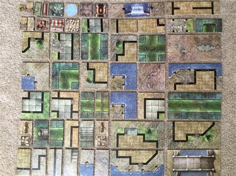 Tile City by How To Organize Your D D Dungeon Tiles The Phdnd Collection