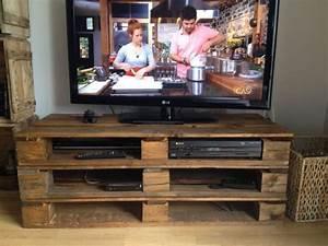 Meuble Tv Rustique : meuble en palette le guide ultime mis jour 2017 ~ Nature-et-papiers.com Idées de Décoration