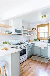 47, Fabulous, Small, Kitchen, Ideas, With, Farmhouse, Style