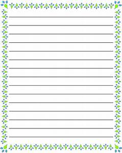 regular lined free printable stationery for kids regular With lined letter writing stationery
