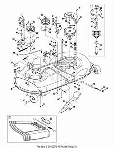 Mtd 13al771t004  2010  Parts Diagram For Mower Deck 46