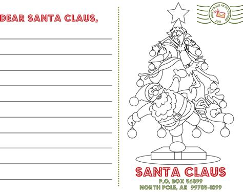 Letter To Santa Template 50 Creative Printables Collection Page 3 Of 5