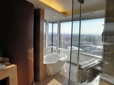 Bathroom Of Our Corner Suite At Aria Hotel And Casino In