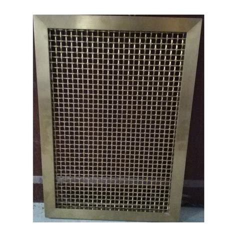 frame design woven type stainless steel wall divide fabric