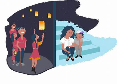 Cultural Conflict Culture Differences Families Embracing Isolated