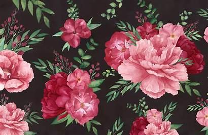 Floral Dark Mural Watercolour Murals Watercolor Flower