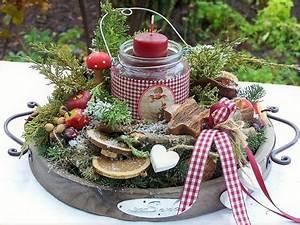 Ausgefallene Weihnachtsdeko Aussen : kr nze adventslicht im nostalgischem glas ein designerst ck von zauberzimmer bei dawanda ~ Markanthonyermac.com Haus und Dekorationen
