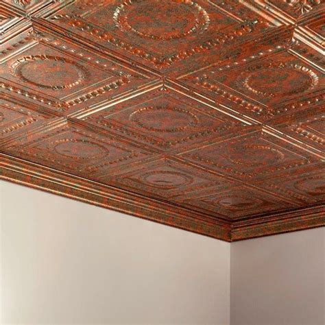 Ceiling Tiles Home Depot Philippines by Surface Mount Tiles Rosette 2 Ft X 4 Ft Copper