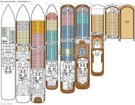deck plans com silver spirit deck plans diagrams pictures