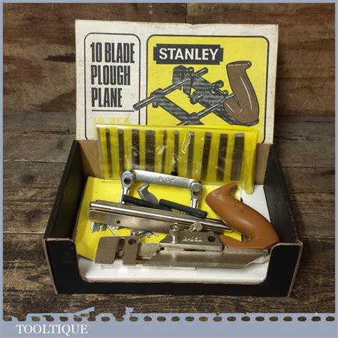 stanley    combination plough plane  cutters