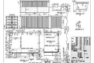 20gp technical drawing shipping container dimensions