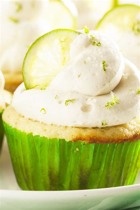 margarita cupcakes  key lime cream cheese frosting