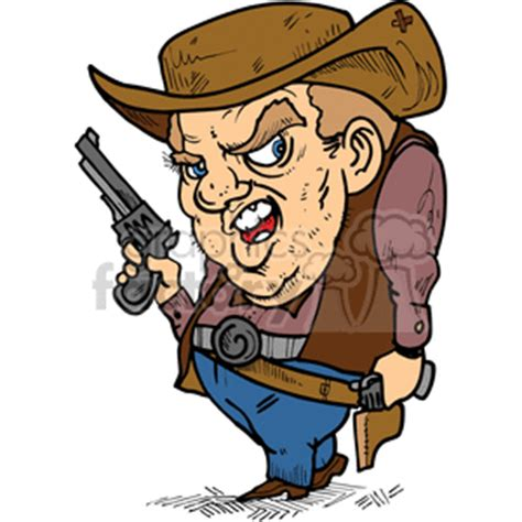 cartoon gunfighter clipart royalty  clipart