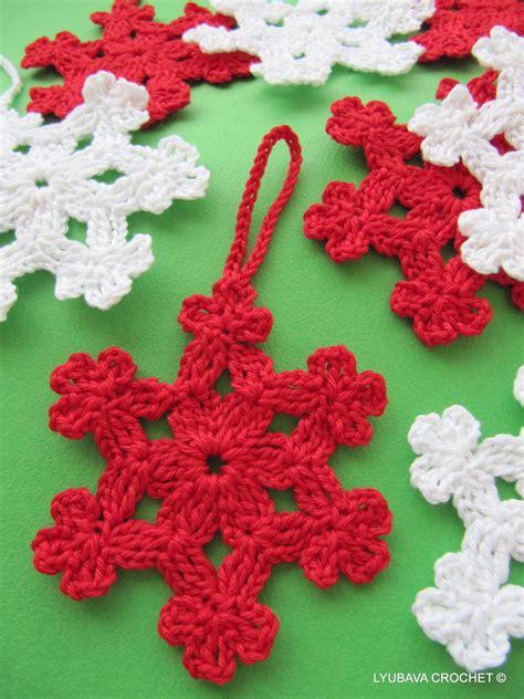 crochet snowflake pattern christmas ornaments diy
