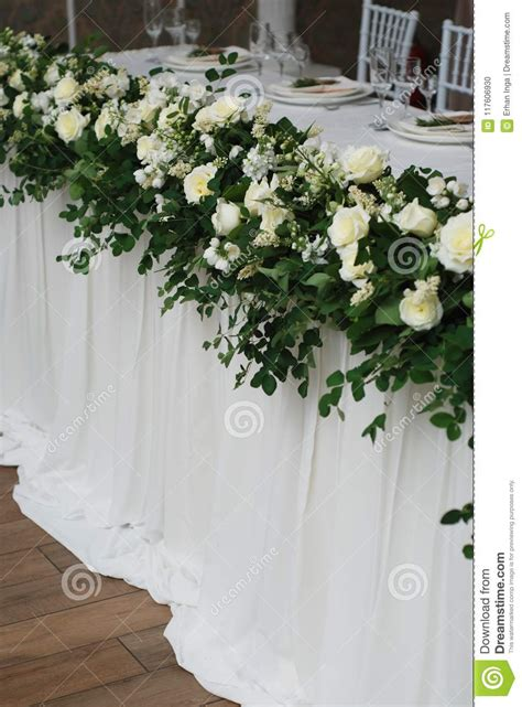 beautiful white  green flower decoration arrangement