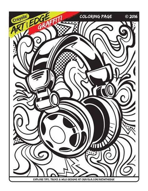 art  edge graffiti trial page crayola coloring pages