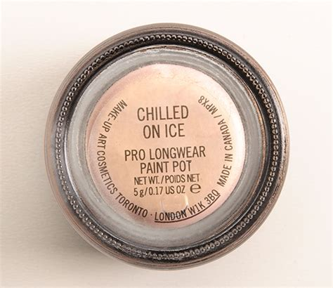 mac chilled on pro longwear paint pot review photos