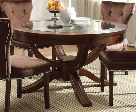 kayden transitional   dining table  glass top